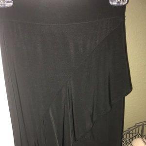 Dresses & Skirts - Flirty black ruffled skirt.